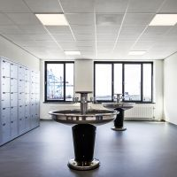 Employees lockers, APM terminal office building, Rotterdam, 2014. Photo: Nelleke de Vries.