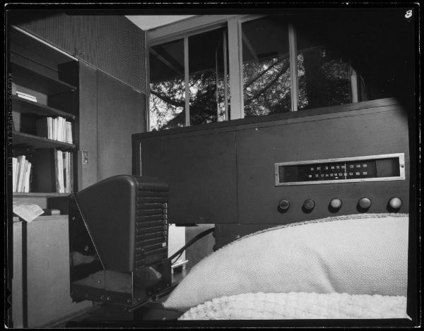 Richard Neutra's bedroom in the Van der Leeuw Research House, Los Angeles.