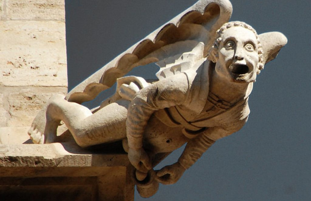Gargoyle on top of the The Llotja de la Seda, Valencia, Spain. Photo: Jose Miguel Redondo.