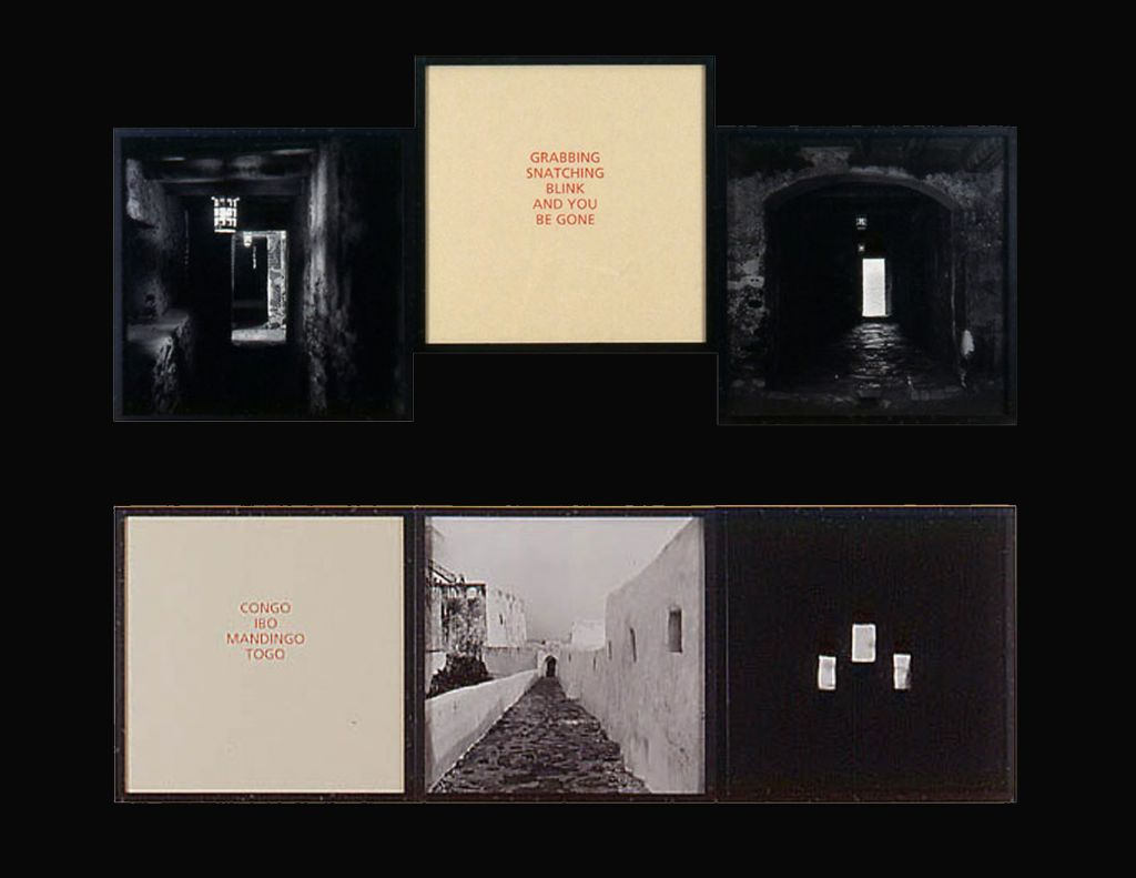 Two triptychs from Carrie Mae Weems, Slave Coast, 1993.