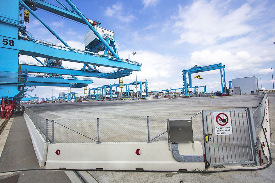 The APM Terminals are highly securitized environments. A permit to visit the site for research was not granted, limiting field research to a public tour aboard the FutureLand Express Bus, which includes a visit to the private grounds of the terminal.